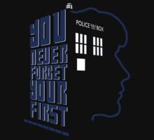 You Never Forget Your First - Doctor Who 8 Paul McGann Kids Tee