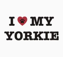 I Heart My Yorkie Kids Tee