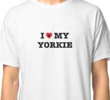 I Heart My Yorkie Classic T-Shirt