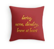Brave at Heart Throw Pillow