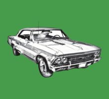 1966 Chevy Chevelle SS 396 Illustration Kids Tee