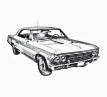 1966 Chevy Chevelle SS 396 Illustration One Piece - Short Sleeve