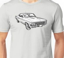 1966 Chevy Chevelle SS 396 Illustration Unisex T-Shirt