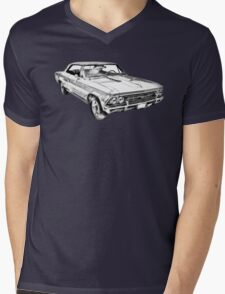 1966 Chevy Chevelle SS 396 Illustration Mens V-Neck T-Shirt