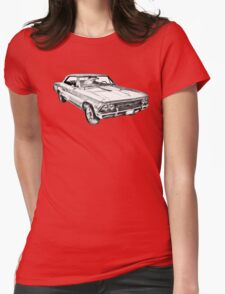 1966 Chevy Chevelle SS 396 Illustration Womens Fitted T-Shirt