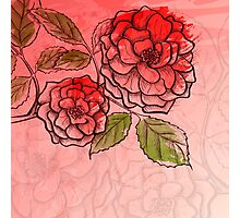 Sketch rose background Photographic Print