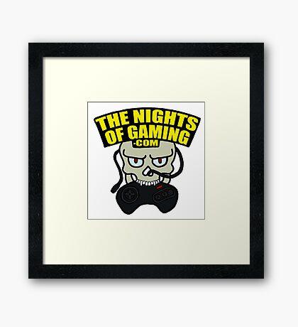 The Nights of Gaming skully Framed Print