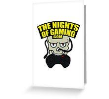 The Nights of Gaming skully Greeting Card