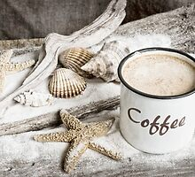 Beach coffee by artsandsoul