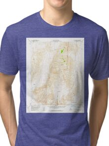 USGS TOPO Map California CA Dry Mountain 297346 1957 62500 geo Tri-blend T-Shirt