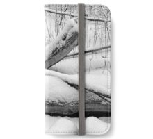 Breaching in a Snow Storm BW iPhone Wallet/Case/Skin