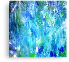 'Seattle Seahawks' Inspired 'Rain Painting' Raw Canvas Print