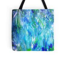 'Seattle Seahawks' Inspired 'Rain Painting' Raw Tote Bag
