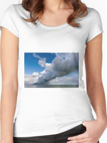 Dramatic Cloudscape off St Margrets Bay Women's Fitted Scoop T-Shirt
