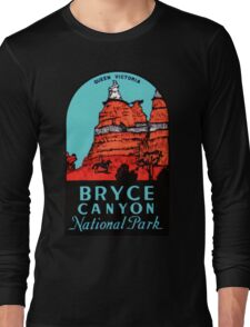 Bryce Canyon National Park Utah Vintage Travel Decal Long Sleeve T-Shirt