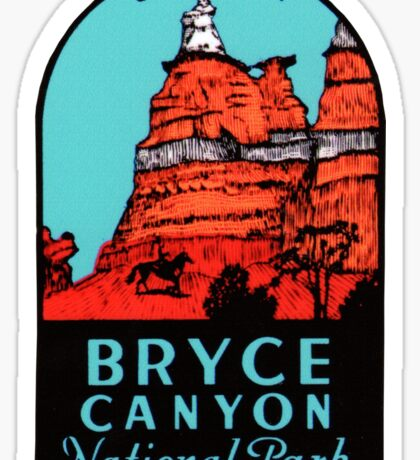 Bryce Canyon National Park Utah Vintage Travel Decal Sticker