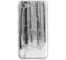 Forest in Snow Storm BW iPhone Case/Skin