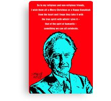 Richard Dawkins Atheist Christmas Canvas Print