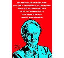 Richard Dawkins Atheist Christmas Photographic Print