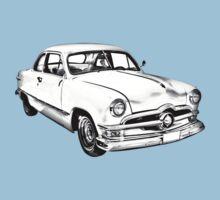 1950  Ford Custom Antique Car Illustration Baby Tee
