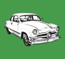 1950  Ford Custom Antique Car Illustration One Piece - Short Sleeve