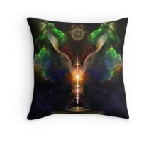 Wings On The Heart Of Light - Crakle Texture Throw Pillow