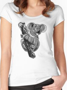 Ornate Koala Women's Fitted Scoop T-Shirt