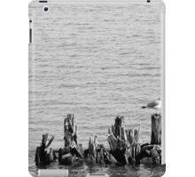 Gull and Pilings BW iPad Case/Skin