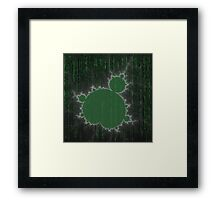 SciFi Fractal / green Framed Print