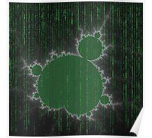 SciFi Fractal / green Poster