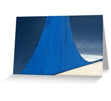 Half Pipe Abstract 2 Greeting Card