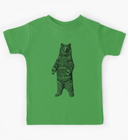 Ornate Grizzly Bear Kids Tee