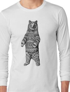 Ornate Grizzly Bear Long Sleeve T-Shirt