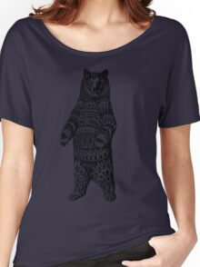 Ornate Grizzly Bear Women's Relaxed Fit T-Shirt