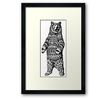 Ornate Grizzly Bear Framed Print