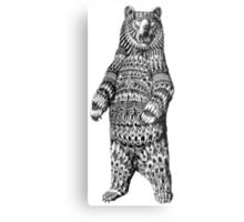Ornate Grizzly Bear Metal Print