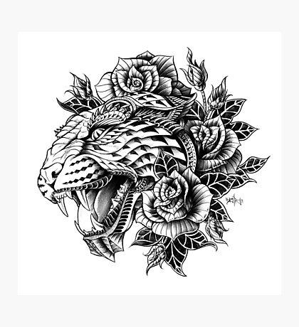 Ornate Leopard Photographic Print