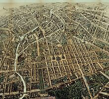 Vintage Pictorial Map of Berlin (1871) by BravuraMedia