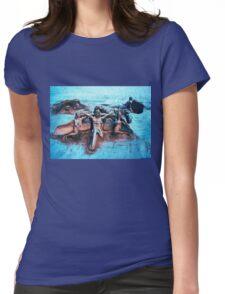 Sand Sculpture Womens Fitted T-Shirt