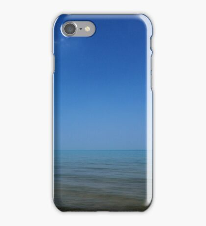 Lake Huron with One Cloud iPhone Case/Skin