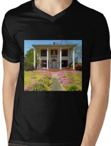 Pretty Pink Flowers Of The Old House Mens V-Neck T-Shirt