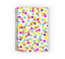 Colorful Polka Dots on a White Background Spiral Notebook