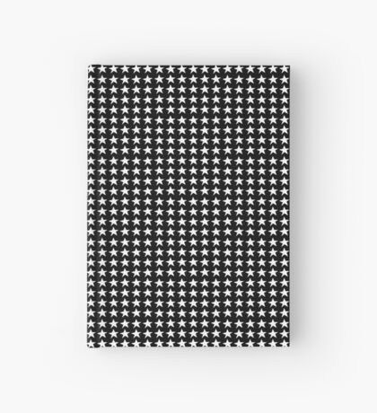 Black and White Star Pattern Hardcover Journal