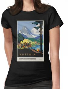 Vintage Austria Alps Travel Womens Fitted T-Shirt