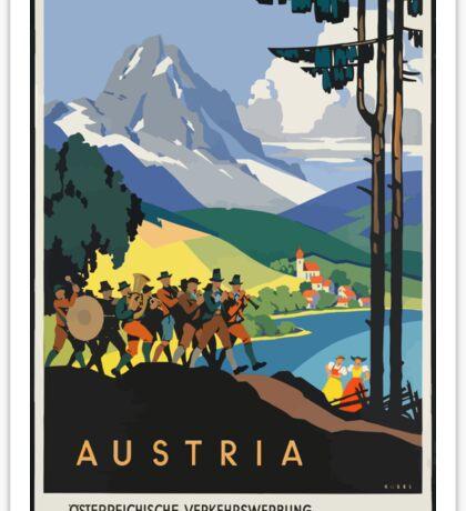Vintage Austria Alps Travel Sticker
