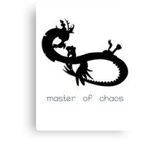Master of Chaos - Black Canvas Print