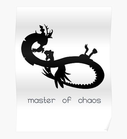 Master of Chaos - Black Poster