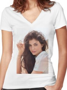 Kylie Jenner Glaze Women's Fitted V-Neck T-Shirt
