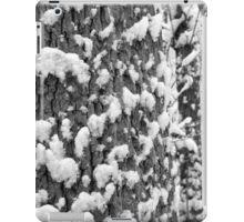 Snow Speckled Tree BW iPad Case/Skin