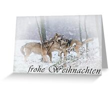 Timber Wolf Christmas Card - German - 14 Greeting Card